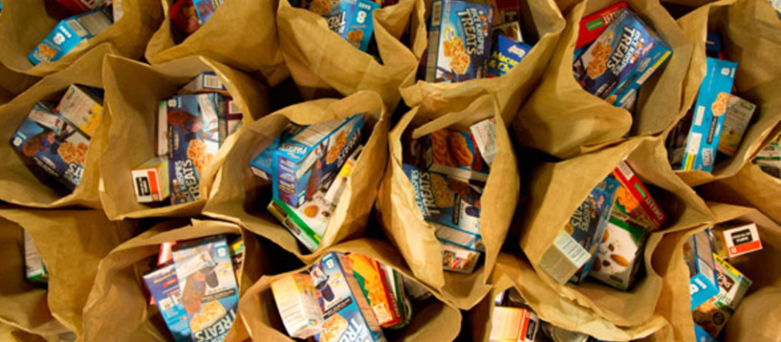Students donate over 550 bags to IHS & Family Promise